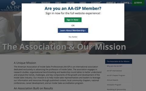 Screenshot of About Page aa-isp.org - AA-ISP   The Association & Our Mission - captured June 14, 2019