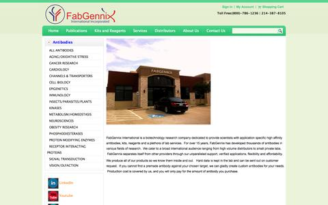 Screenshot of About Page fabgennix.com - About us-FabGennix Inc. - captured Oct. 5, 2014