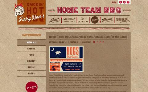 Screenshot of Blog hometeambbq.com - Home Team BBQ - captured Oct. 5, 2014