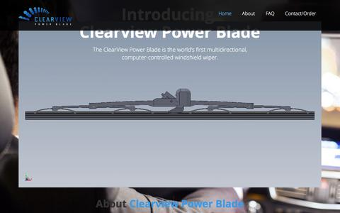 Screenshot of Home Page clearviewpowerblade.com - Clearview Power Blade   The world's first multidirectional, computer-controlled windshield wiper - captured July 13, 2016