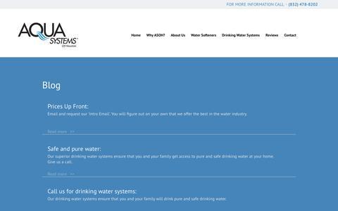 Screenshot of Blog loveourwater.com - Home Water Softener Richmond & Katy, TX | Blog | Aqua Systems of Houston - captured Feb. 5, 2016
