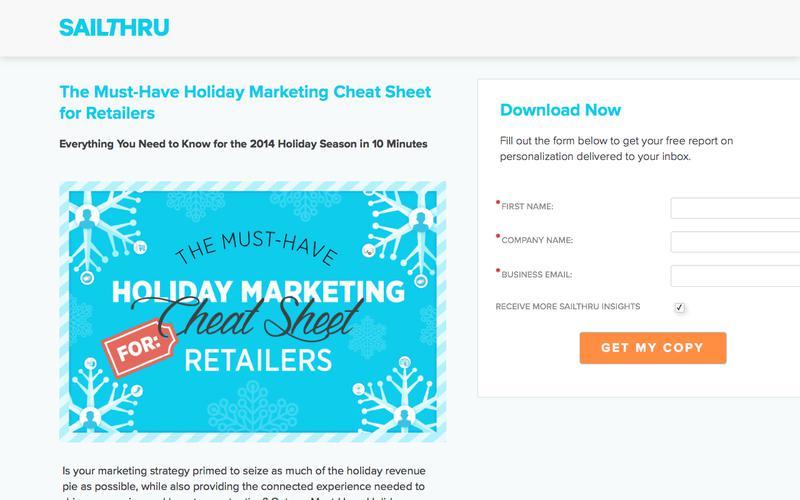 Sailthru Holiday Marketing Cheat Sheet For Retailers