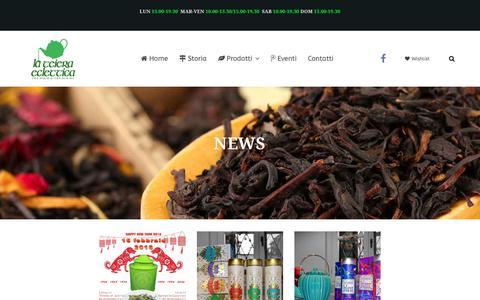 Screenshot of Press Page teieraeclettica.it - News   La Teiera Eclettica - captured Feb. 19, 2018