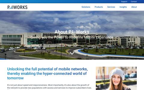 Screenshot of About Page piworks.net - P.I. Works - Company - captured Sept. 25, 2018