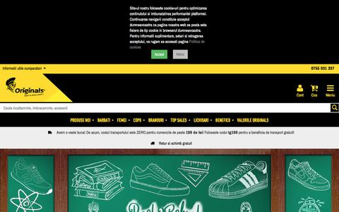 Screenshot of Home Page originals.ro - Originals - Start to dress smart - captured Sept. 21, 2019