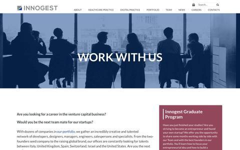 Screenshot of Jobs Page innogest.it - Careers | Innogest - captured Oct. 15, 2017
