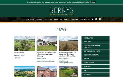 Screenshot of Press Page berrybros.com - News | Berrys - captured Oct. 5, 2017