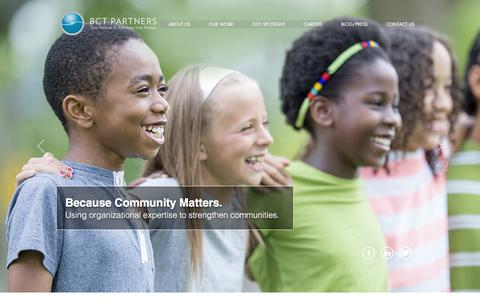 Screenshot of Home Page bctpartners.com - BCT Partners: Insights, Diversity, Equity | Newark - captured July 31, 2018