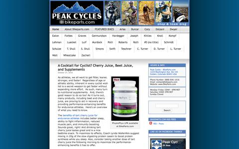 Screenshot of Blog bikeparts.com - Peak Cycles - BikeParts.com Blog | We love to blog about bikes, bike parts, bike gear, bike everything!!!  We hope you enjoy your visit! - captured Oct. 27, 2016