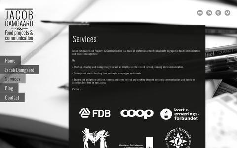 Screenshot of Services Page jacobdamgaard.dk - Services | Jacob Damgaard - captured Nov. 3, 2014