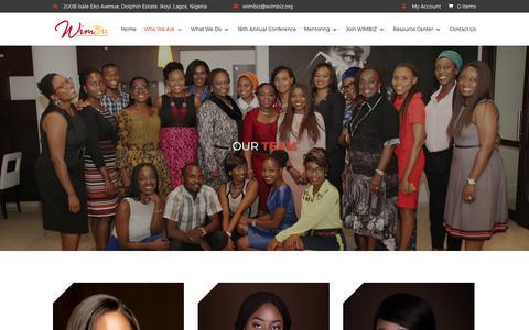 Screenshot of Team Page wimbiz.org - Our Team | WIMBIZ - captured Oct. 22, 2017