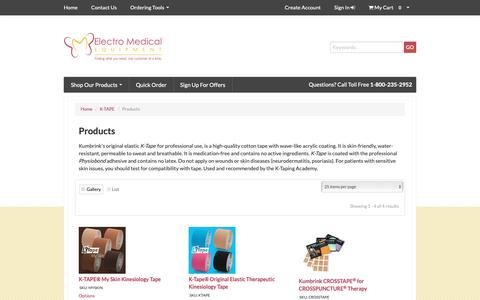 Screenshot of Products Page electro-medical.com - Electro Medical, Inc. - captured Sept. 27, 2018