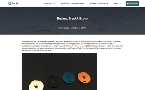 Screenshot of Press Page thetrackr.co - TrackR Reviews - See What the Press is Saying - captured Oct. 23, 2016