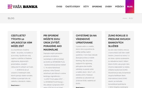 Screenshot of Blog zuno.sk - BLOG - zuno.sk - captured Nov. 13, 2018