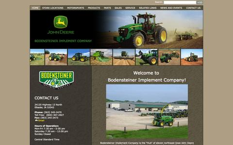 Screenshot of Home Page bodimp.com - Bodensteiner Implement Company - Home - captured Oct. 5, 2014