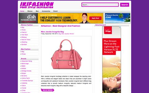Screenshot of Home Page ikifashion.com - Ikifashion - Best Designer and Fashion - captured Sept. 19, 2014