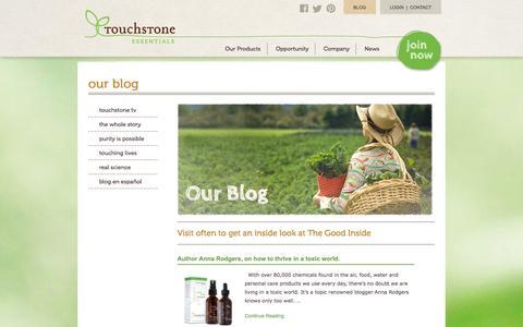 Screenshot of Blog touchstoneessentials.com - Our Blog | Touchstone Essentials - captured Sept. 19, 2014