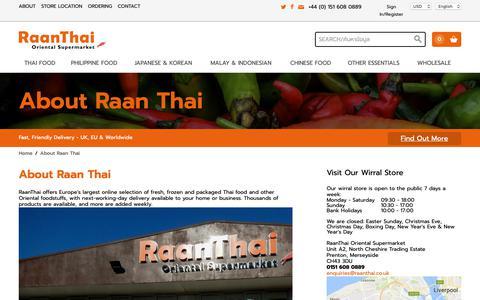 Screenshot of About Page raanthai.co.uk - About Raan Thai - captured Nov. 11, 2018