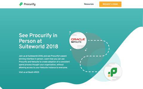 Screenshot of Landing Page procurify.com captured June 12, 2018