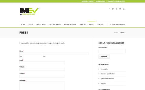 Screenshot of Press Page myelectricvehicle.org - Press   myelectricvehiclemyelectricvehicle - captured Oct. 9, 2014