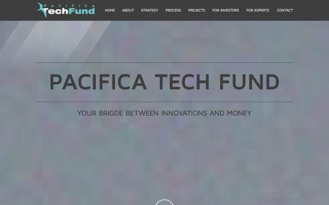 Screenshot of Home Page pacificatechfund.com - Pacifica Tech Fund - captured Oct. 1, 2014