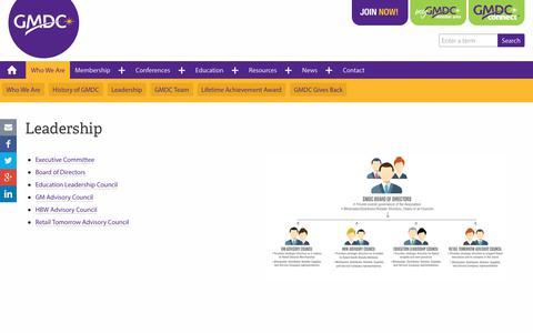 Screenshot of Team Page gmdc.org - Leadership | Global Market Development Center - captured Feb. 14, 2020