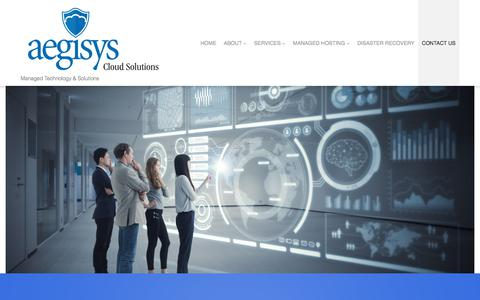 Screenshot of Contact Page aegisys.com - Contact Us - IT Managed Services & Solutions Provider - captured July 29, 2018