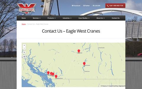 Screenshot of Contact Page eaglewestcranes.com - Contact Us | Eagle West Truck & Cranes - captured Sept. 29, 2014