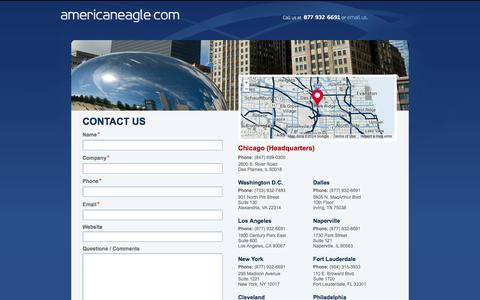 Screenshot of Contact Page americaneagle.com - Website Design and Development Offices | Contact Us | Americaneagle.com - captured Oct. 10, 2014