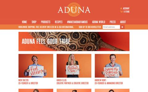 Screenshot of Team Page aduna.com - Aduna Feel Good Tribe – Aduna - captured Dec. 14, 2015