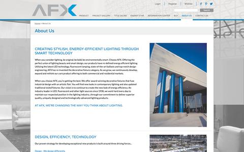 Screenshot of About Page afxinc.com - About Us - captured Nov. 6, 2018