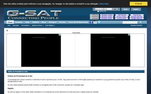 Screenshot of Privacy Page g-sat.net - Política de Privacidade do G-Sat - captured Dec. 5, 2016