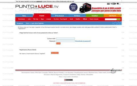 Screenshot of Menu Page puntoluce.tv - - PuntoLuce.tv - captured June 1, 2016