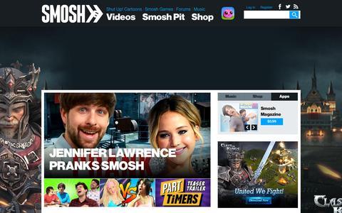 Screenshot of Home Page smosh.com - Funny Videos, Funny Pictures, Humor, Internet Comedy   SMOSH - captured Dec. 2, 2015