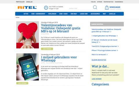 Screenshot of Blog ritel.nl - Ritel Nieuws - Het laatste telecom nieuws - captured Feb. 11, 2016