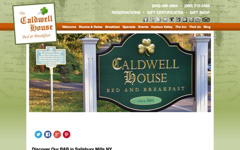 Screenshot of Contact Page Maps & Directions Page caldwellhouse.com - Salisbury NY B&B near Cornwall in the Hudson Valley - captured Oct. 1, 2014