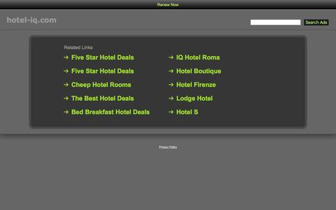 Screenshot of Home Page hotel-iq.com - Hotel-Iq.com - captured Dec. 13, 2015