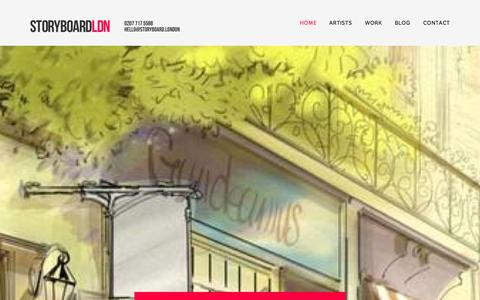 Screenshot of Home Page storyboard-london.co.uk - Storyboard LDN: The London storyboard artist agency. - captured Oct. 7, 2014