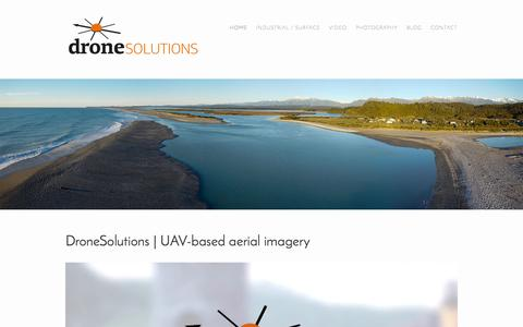 Screenshot of Home Page dronesolutions.co.nz - DroneSolutions - captured Oct. 5, 2014