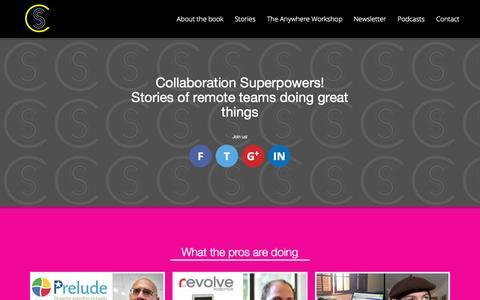 Screenshot of Home Page collaborationsuperpowers.com - Collaboration Superpowers - captured Sept. 19, 2015