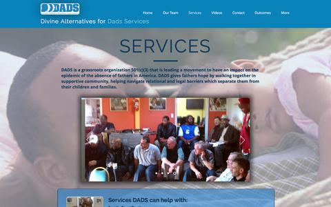 Screenshot of Services Page aboutdads.org - aboutdads - captured Oct. 12, 2017