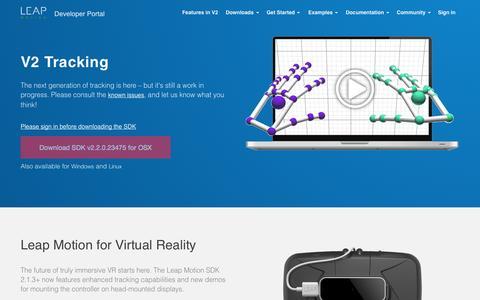 Screenshot of Developers Page leapmotion.com - Skeletal Tracking | Leap Motion Developers - captured Dec. 13, 2014
