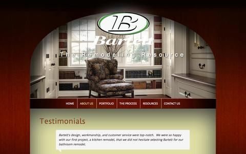 Screenshot of Testimonials Page barteltremodel.com - Testimonials from Our Customers | Bartelt. The Remodeling Resource - captured Oct. 5, 2014