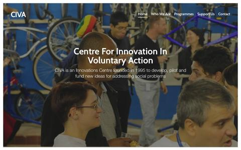 Screenshot of Home Page civa.org.uk - CIVA | Centre For Innovation In Voluntary Action - captured Jan. 26, 2016