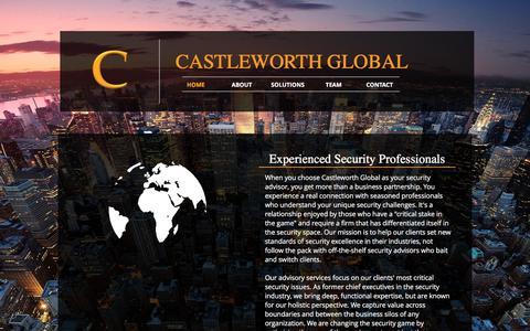 Screenshot of Home Page castleworthglobal.com - Castleworth Global - captured July 6, 2017