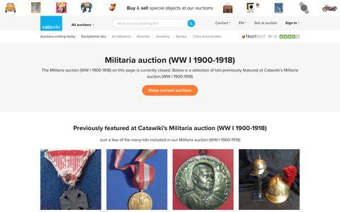 Militaria auction (WW I 1900-1918) - Catawiki