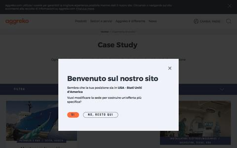 Screenshot of Case Studies Page aggreko.com - Argomento di studio | Aggreko - captured Dec. 27, 2017