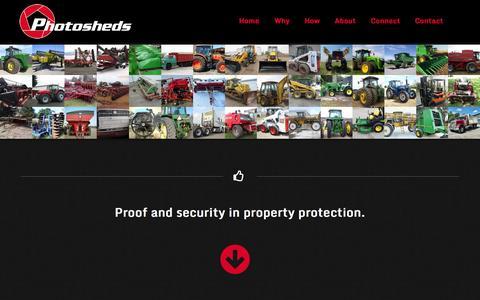 Screenshot of Home Page photosheds.com - PhotoSheds LLC - Item Imaging Services - captured Oct. 2, 2014