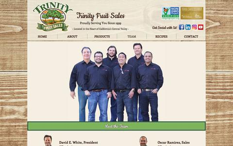 Screenshot of Team Page trinityfruit.com - Team | Fresno, CA | Trinity Fruit Sales - captured Nov. 10, 2017