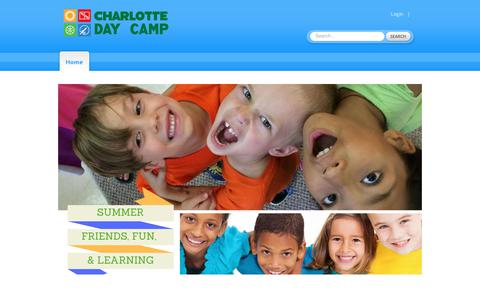 Screenshot of Home Page charlottedaycamp.com - Charlotte Day Camp: Home - captured Oct. 17, 2018